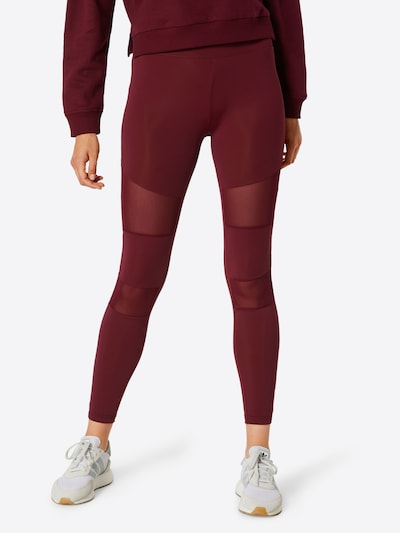 Urban Classics Leggings 'Tech Mech' in rot, Modelansicht