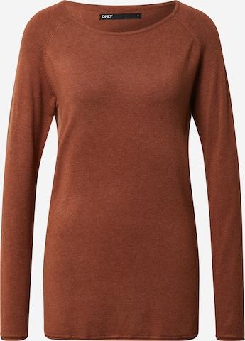 Maglietta 'Mila' di ONLY in marrone