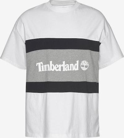 TIMBERLAND T-Shirt 'Cut & Sew' in grau / schwarz / weiß, Produktansicht