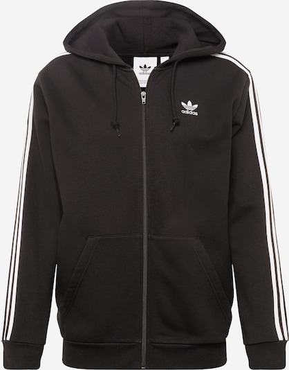 ADIDAS ORIGINALS Sweatjacke '3-Stripes Fz' in schwarz / weiß, Produktansicht