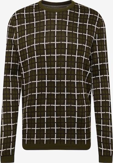 Only & Sons Pullover 'RASMUS 12 CHECK' in dunkelgrün, Produktansicht