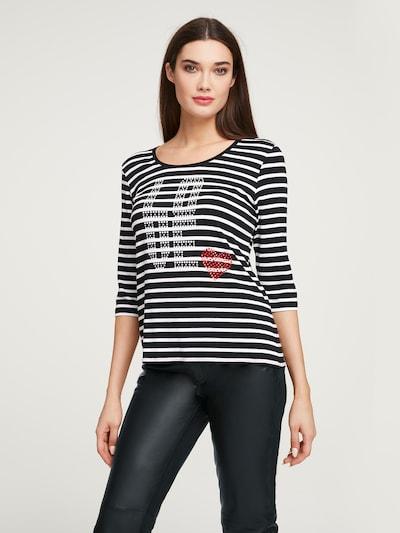heine Shirt in de kleur Zwart / Zilver / Offwhite: Vooraanzicht
