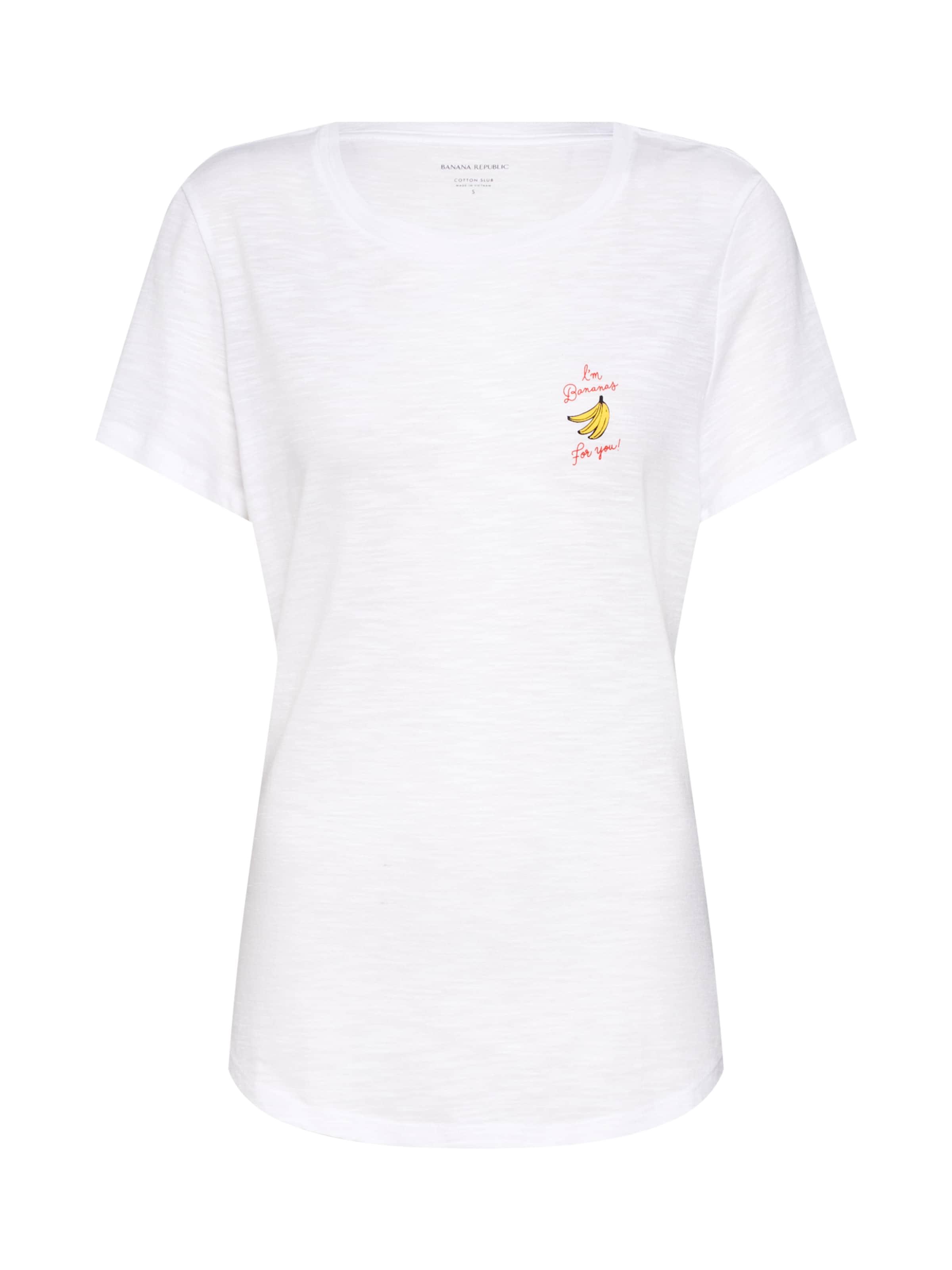 shirt Cotton Bananas Banana Blanc En Republic You' 'ss Crew T For Slub TuPXiOZk