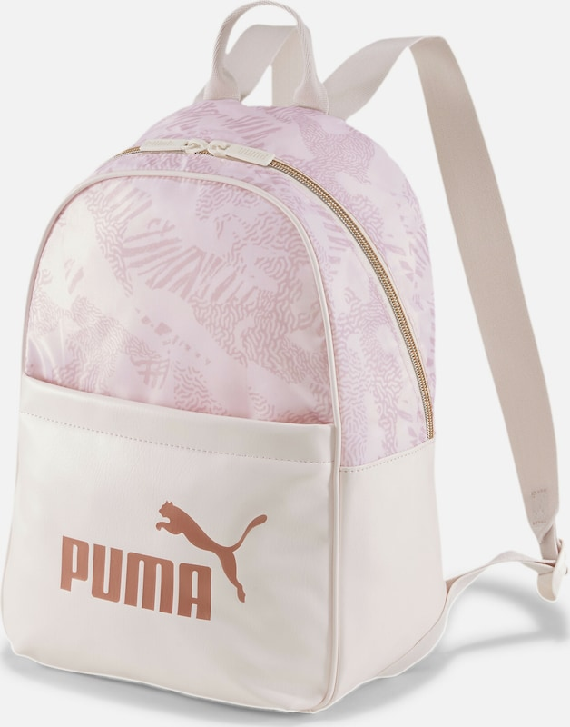 PUMA Rucksack 'Core Up' in gold / rosa / pastellpink: Frontalansicht