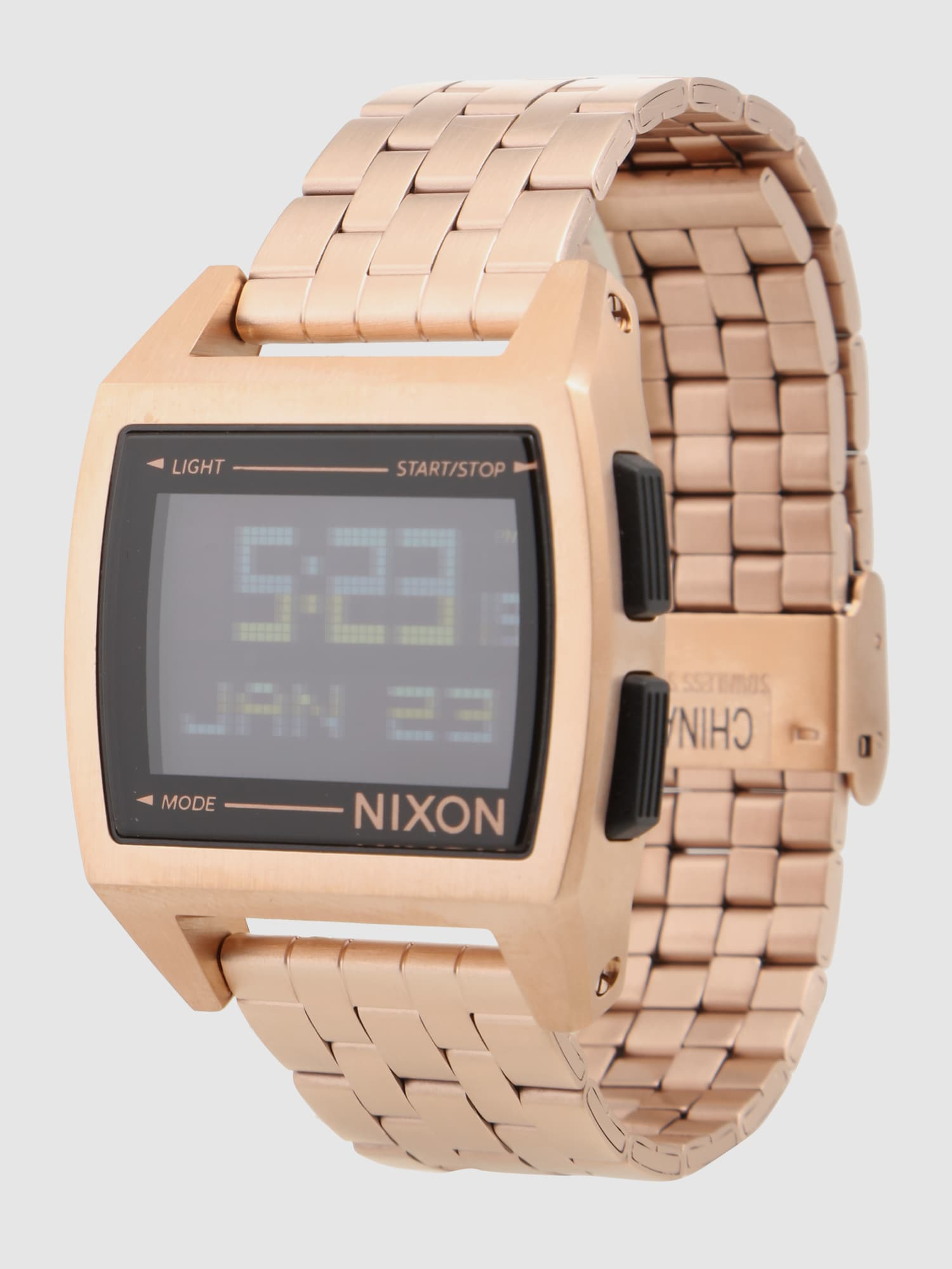 nixon digitale uhr 39 base 39 in gold about you. Black Bedroom Furniture Sets. Home Design Ideas