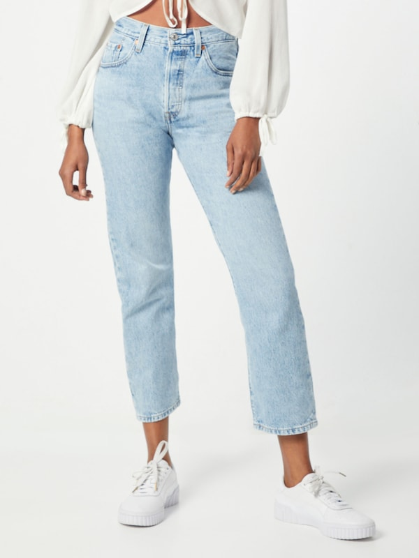 LEVI'S Jeans '501® CROP' in blue denim, Modelansicht