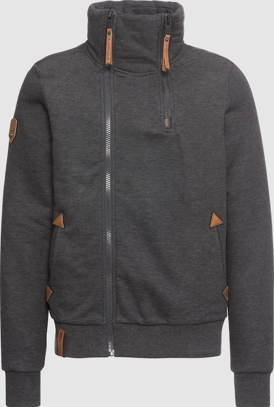 Naketano Sweatshirt 'Du Affenmensch' in anthrazit  Markenkleidung für Männer und Frauen