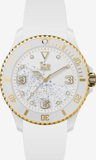 ICE WATCH Uhr in gold / weiß: Frontalansicht
