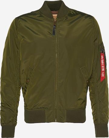 Giacca di mezza stagione 'MA-1 TT' di ALPHA INDUSTRIES in verde