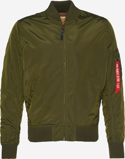 ALPHA INDUSTRIES Bomberjacke 'MA-1 TT' in dunkelgrün, Produktansicht