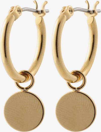 Orelia Ohrringe 'Chunky Mini Coin & Hoop' in gold, Produktansicht