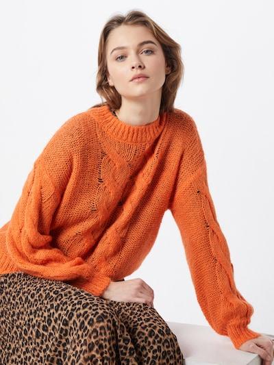 VERO MODA Pull-over 'JESS LS' en orange, Vue avec modèle