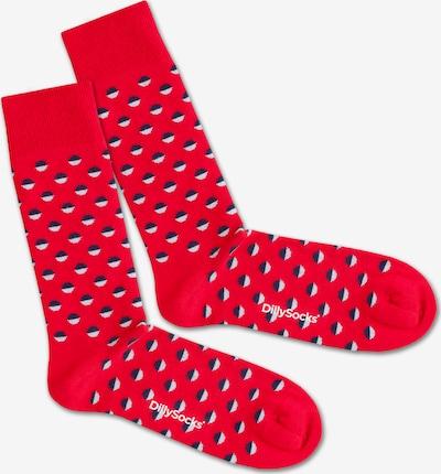 Șosete 'Red Boccia Field' DillySocks pe albastru / roșu / alb, Vizualizare produs
