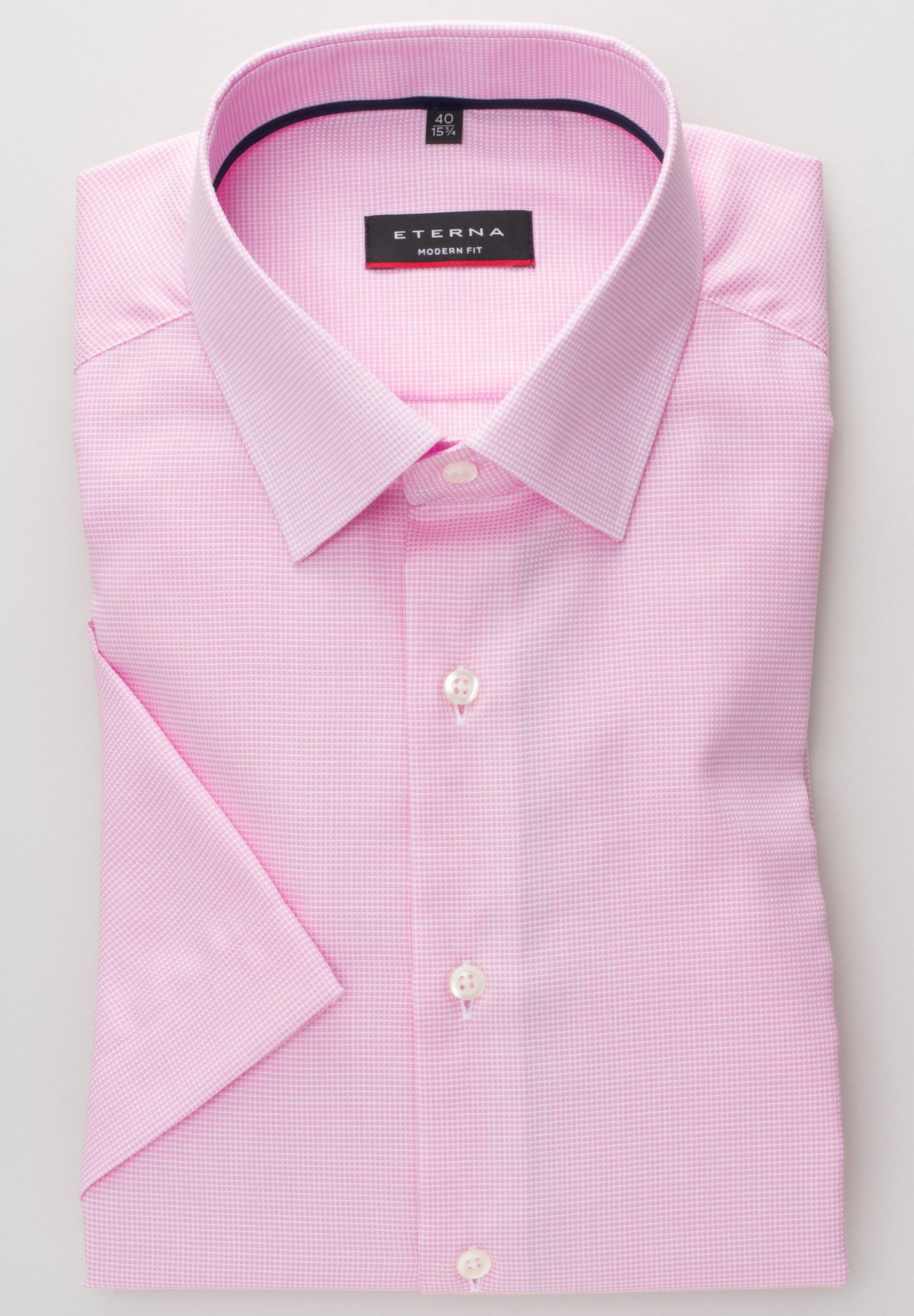 Hemd Eterna Weiß PinkSchwarz Eterna In Hemd In b76fgy