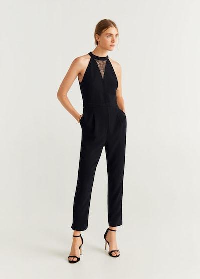 MANGO Overall 'Venere' in schwarz, Modelansicht