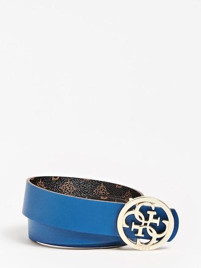 GUESS Gürtel in blau / hellblau / braun, Produktansicht