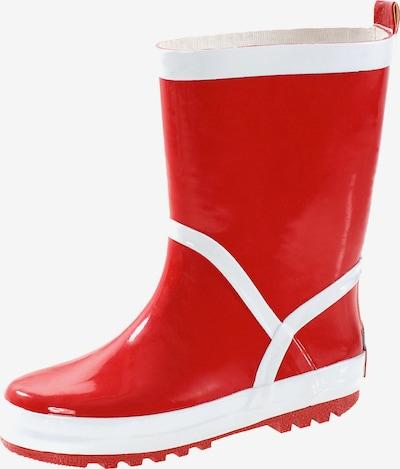 PLAYSHOES Stiefel in rot / weiß, Produktansicht