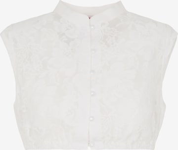 SPIETH & WENSKY Dirndlbluse 'Kassandra' in Weiß