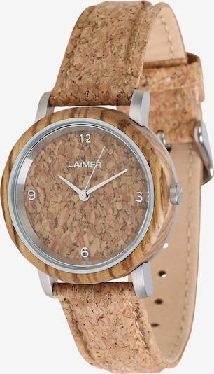 LAiMER Damen Armbanduhr Holzuhr 'Jutta' in ocker, Produktansicht