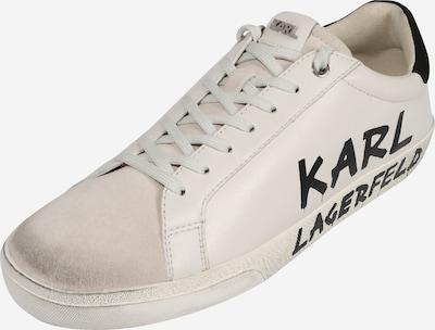 Karl Lagerfeld Sneaker 'SKOOL' in schwarz / weiß: Frontalansicht