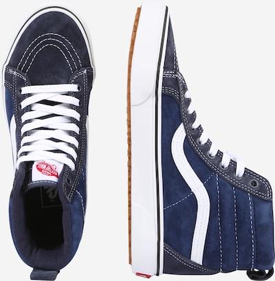 VANS Augstie apavi 'Sk8-Hi Mte' pieejami zils / kamuflāžas / balts: Sānskats