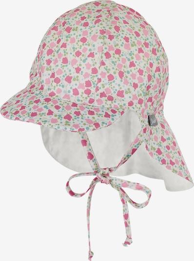 STERNTALER Mütze in hellblau / hellgrün / pink / dunkelpink / weiß, Produktansicht