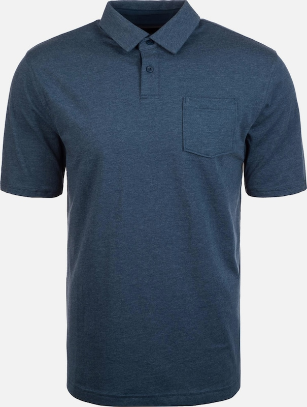 UNDER ARMOUR Poloshirt 'Charged Cotton Scramble' in dunkelblau: Frontalansicht