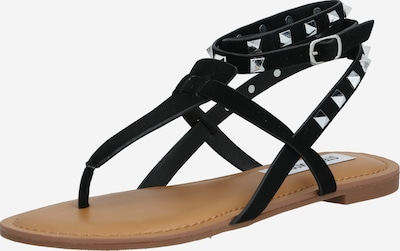 STEVE MADDEN Sandale 'SIRENA' in braun / schwarz / silber, Produktansicht