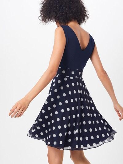 SWING Kleid in dunkelblau / weiß: Rückansicht