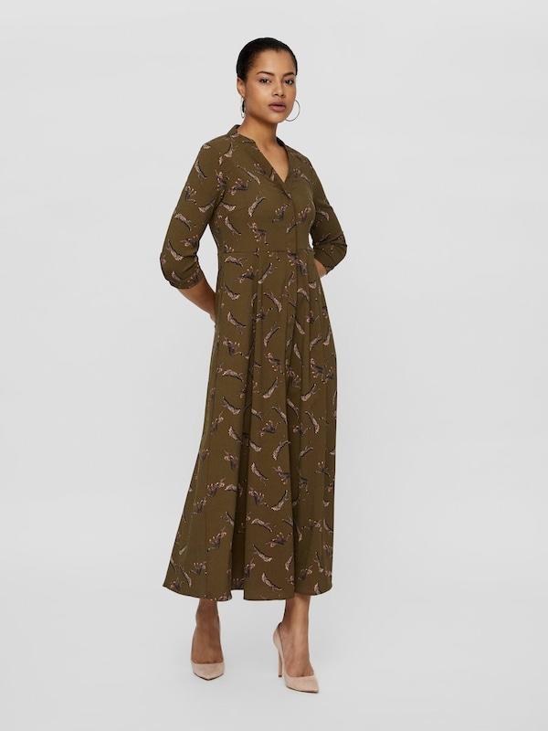 VERO MODA Hemd Kleid in braun / khaki   ABOUT YOU
