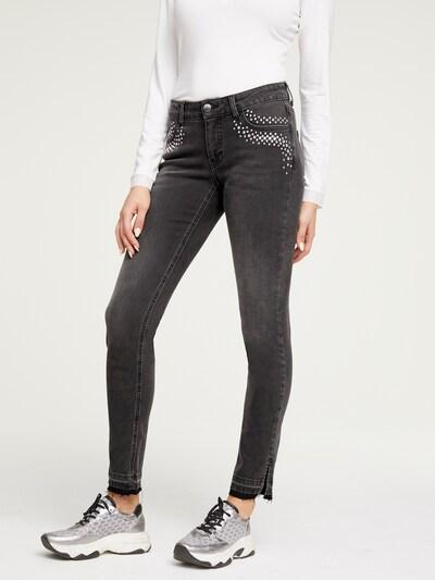 heine Jeans 'Aleria' in black denim / silber, Modelansicht