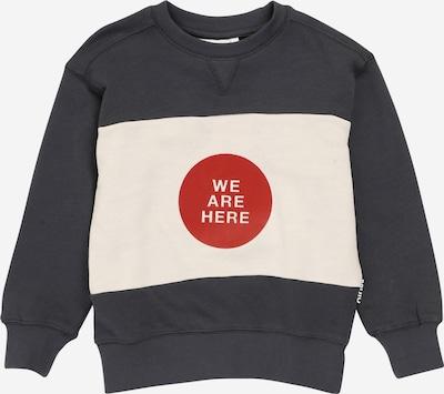 Molo Sweatshirt in dunkelgrau / rot / weiß, Produktansicht
