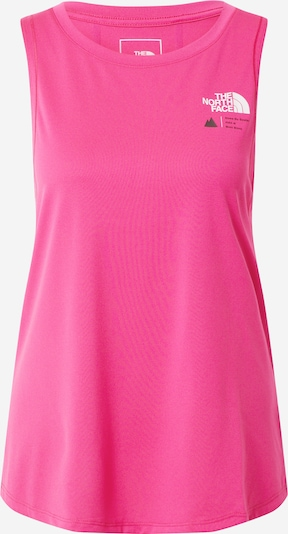 THE NORTH FACE Sporttop 'Glacier' in de kleur Donkergrijs / Pink / Wit, Productweergave