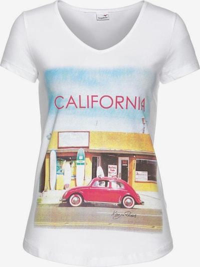 KangaROOS T-Shirt in mischfarben / weiß, Produktansicht