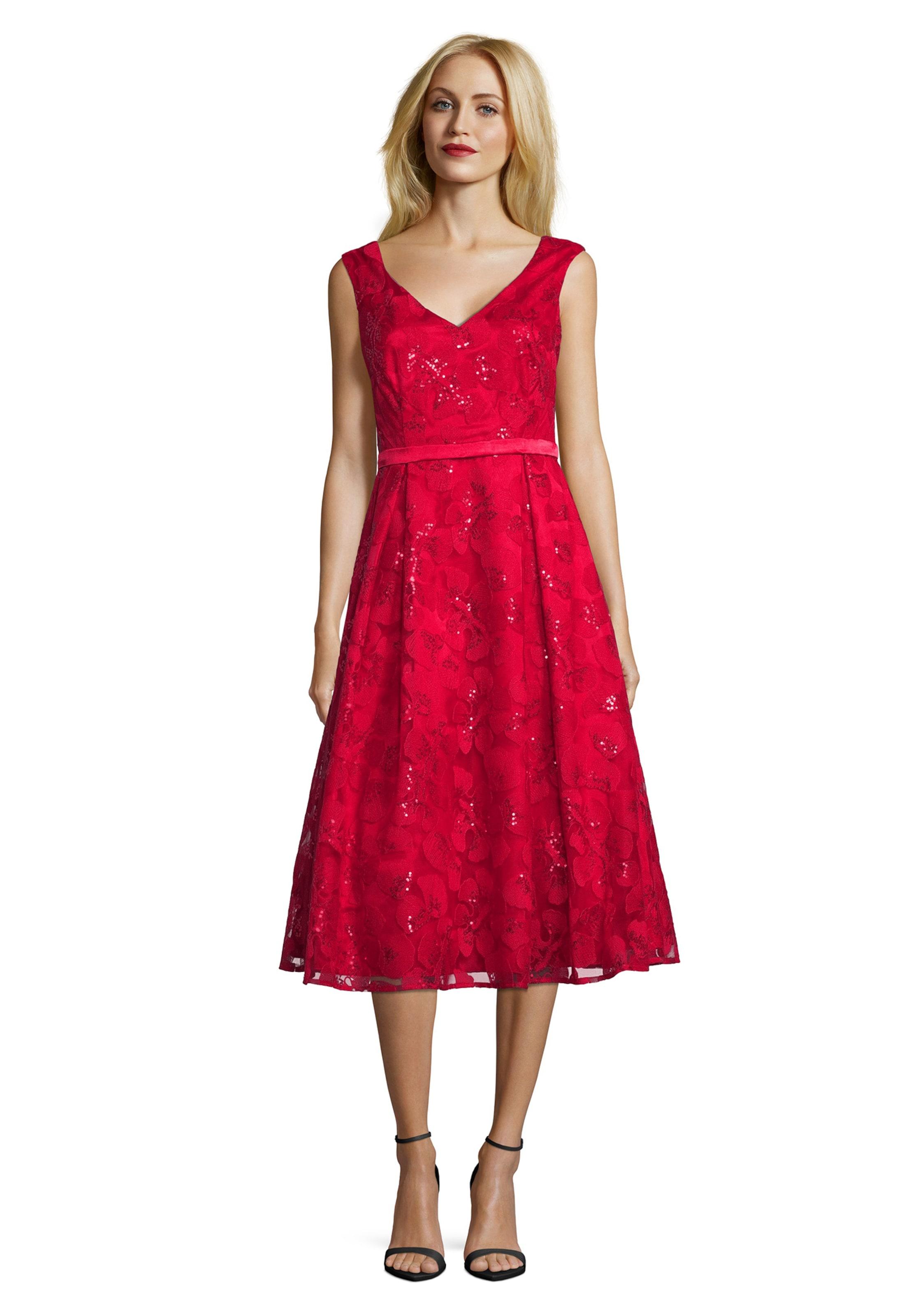 Mit Pailletten Mont Abendkleid Rot Vera In VpGSUMqz