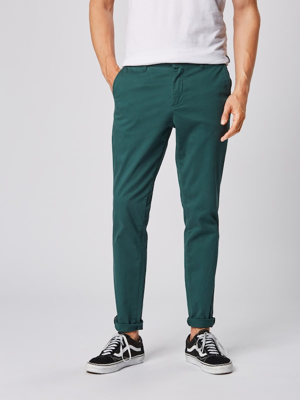 JACK & JONES Chino 'Marco Bowie' in smaragd: Frontalansicht