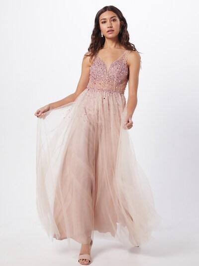 Unique Abendkleid in rosé, Modelansicht