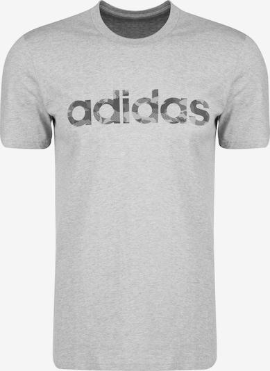 ADIDAS PERFORMANCE Trainingsshirt 'Essentials Camo Linear Logo' in grau / schwarz: Frontalansicht