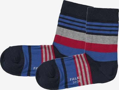 FALKE Socken in blau / rot / schwarz, Produktansicht