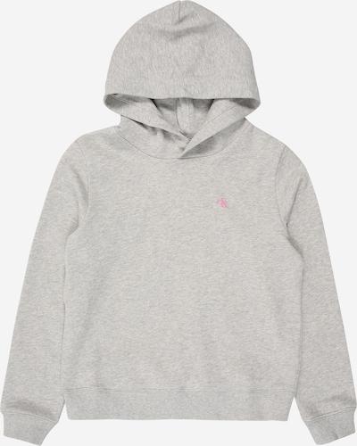 Calvin Klein Jeans Sweater 'HERO LOGO HOODIE' in hellgrau, Produktansicht