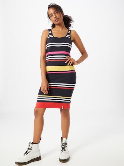 Superdry Letní šaty 'MIAMI' - námořnická modř / žlutá / oranžová / bílá, Model/ka