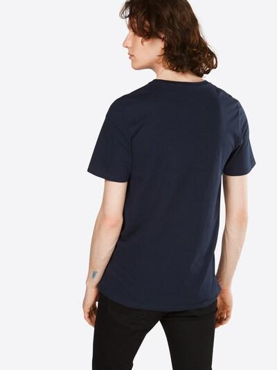 JACK & JONES T-Shirt 'JJECORP LOGO TEE SS CREW NECK' in blau / rot / weiß: Rückansicht