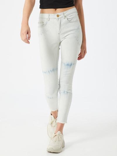 ONLY Jeans 'HUSH' in de kleur Blauw denim / Wit: Vooraanzicht