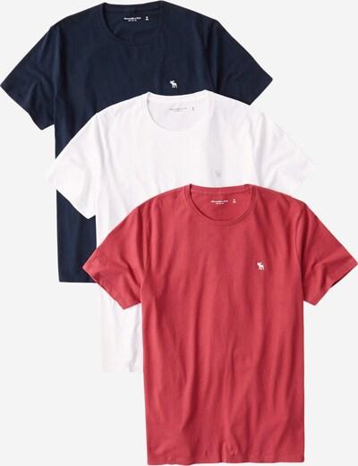 Abercrombie & Fitch Shirt 'SEASONAL' in navy / rot / weiß, Produktansicht