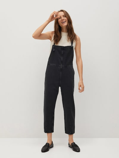 MANGO Latzhose 'Emma' in black denim, Modelansicht