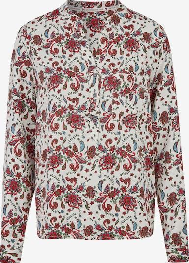 Heimatliebe Bluse in creme / rot, Produktansicht