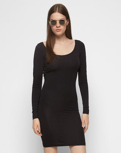 Samsoe Samsoe Jersey-Kleid in schwarz, Modelansicht