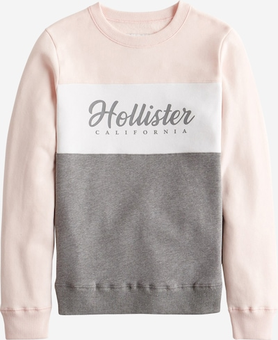 HOLLISTER Sweatshirt 'FASHION' in grau / rosé / weiß, Produktansicht