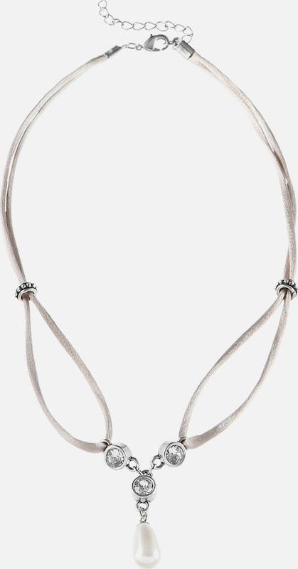 Lusana Trachtenhalskette mit Perlenanhänger