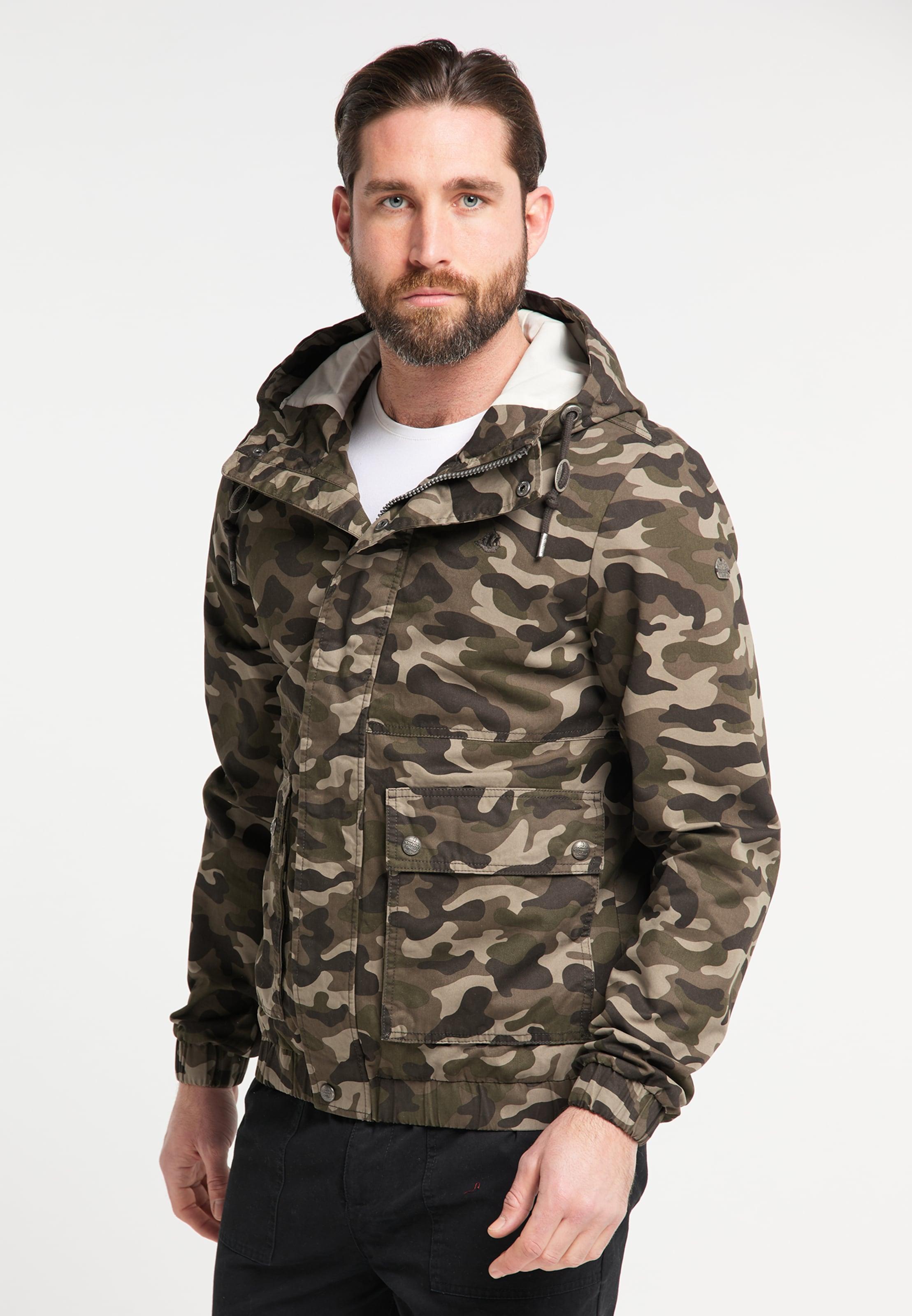 DREIMASTER Blouson in beige / grün / khaki Baumwolle 4251686656104